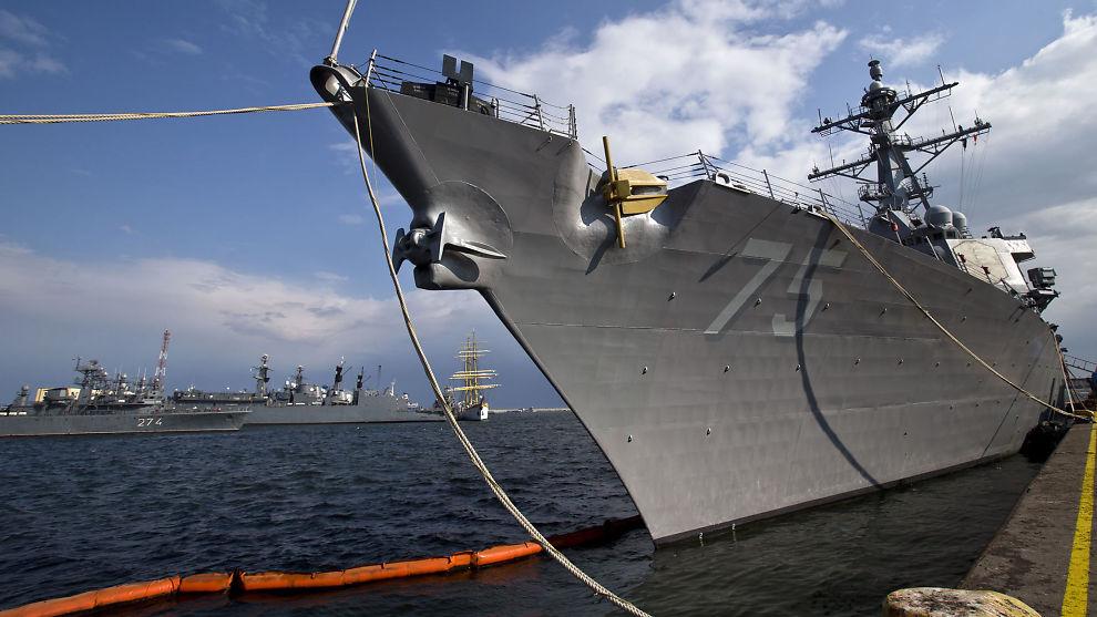 <p>PROVOSERT: USA er provosert over at et russisk jagerfly gjentatte ganger fløy over destroyeren USS Donald Cook, som for tiden er i Svartehavet.<br/></p>