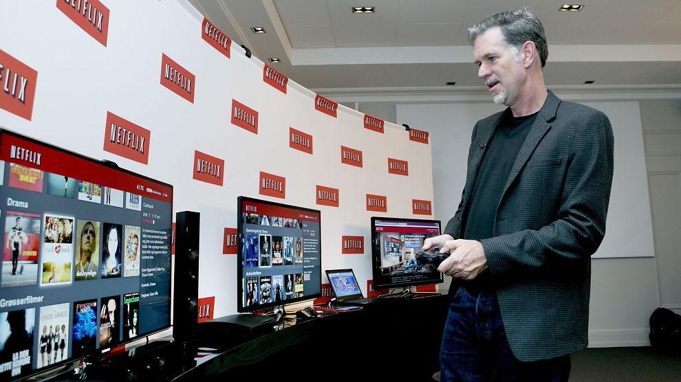 <p><b>KLAR FOR PRISØKNING:</b> Netflix mener de kan øke prisene uten at kundene flykter. Etter et prøveprosjekt i Irland skal prisøkningen rulles ut i hele verden. Her er konsernsjef Reed Hastings på besøk i Oslo under den norske lanseringen i 2012.</p>