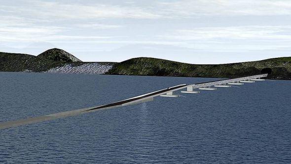 <p><b>SOGNEFJORDEN:</b> Reintertsen og Dr.Tehcn. Olav Olsen vant konkurransen om det beste alternativet for en rørbro for kryssing av Sognefjorden.</p>