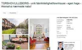 <p><b>Unik?</b> I denne boligannonsen beskriver Sverre Tandberg boligen som unik. Han mener det er berettiget.<br/></p>
