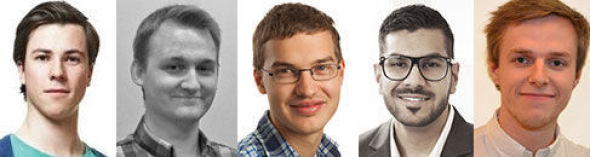 <p><b>TOPPSTUDENTER:</b> Andreas Bjørn-Hansen (22), Arne Christian Blystad (23), Avjot Garcha Singh (24), Benjamin Bjørnseth (24) og Håkon Åmdal (23).</p>