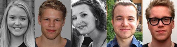 <p><b>TOPPSTUDENTER:</b> Ida Nigardsøy Bergum (24), Johan Torås Halseth (23), Johanne Håøy Horn (22), Karstein Røsnes Ersdal (24) og Lars Henrik Nordli (23).</p>