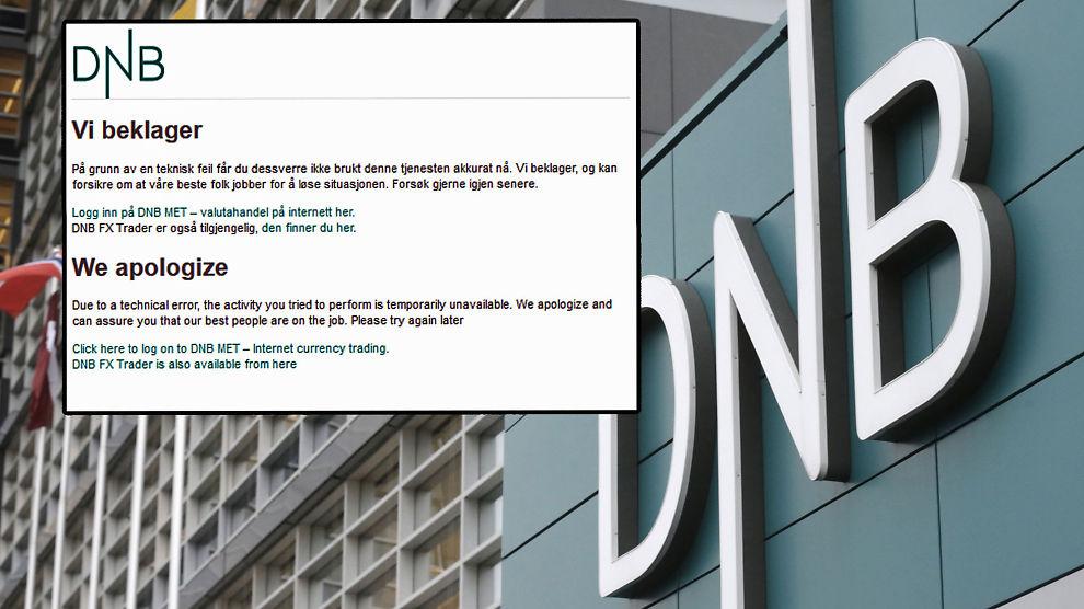<p><b>UTSATT FOR SABOTASJE:</b> DNBs nettsider er nede, etter et angrep som overbelaster innloggingen.<br/></p>