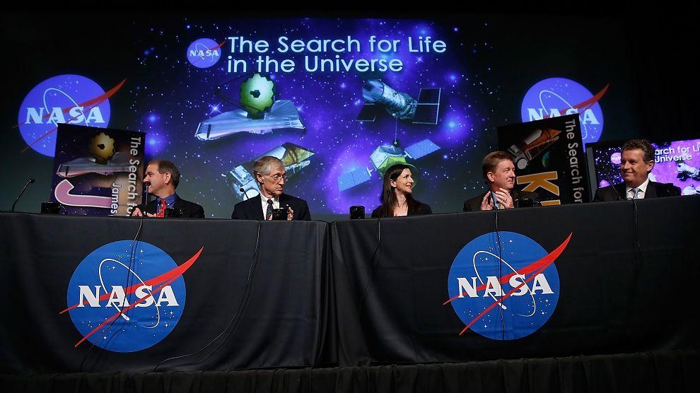 <p><b>LIV DER UTE?</b> NASA holdt i denne uken en presentasjon der de snakket om leting etter liv i universet.<br/></p>