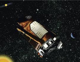 <p><b>KEPLER:</b> Illustrasjon av Kepler-teleskopet som ble skutt ut i verdensrommet i 2009.<br/></p>