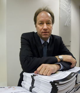 <p>Administrerende direktør Hans Henrik Scheel i Statistisk sentralbyrå (SSB).</p>