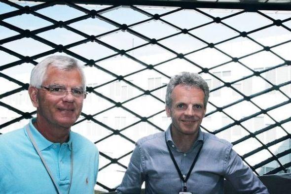 <p><b>UTFORDRINGER:</b> Alfred Øijord (t.v.) og Helge Hagen, prosjektledere for Polarled og Aasta Hansteen Subsea, må takle problemstillinger knyttet til ekstreme forhold.</p>