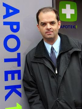 <p><b>TØFF KAMP:</b> Administrerende direktør Øyvind Winther i Apotek 1<br/></p>