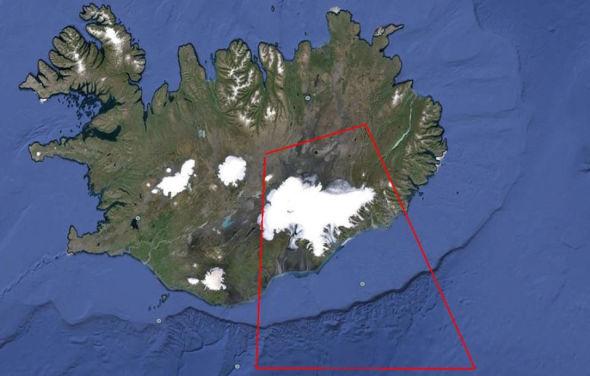 <p><b>STENGT FOR FLYTRAFIKK:</b> Området markert i rødt er for tiden stengt for flytrafikk. Alle islandske flyplasser er likevel åpne.<br/></p>