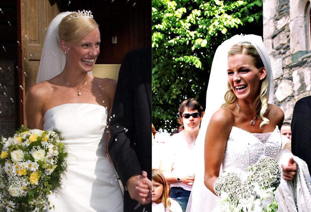 <p><b>LYKKELIG GIFT:</b> Her er Silje Sandmæl da hun giftet seg med mannen Bent, og Kathrine Sørland da hun giftet seg med mannen Andreas. Begge parene giftet seg i Norge.<br/></p>