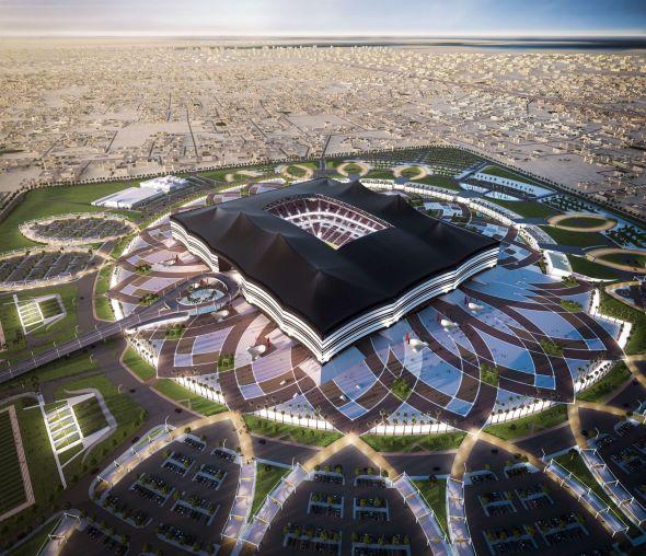 Sjekk de spektakulære bildene - Qatar bygger helt ny by til fotball-VM 2022 - Qatar - Utenriks - E24