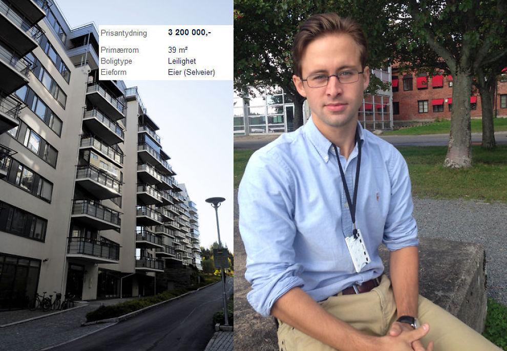 <p><b>REAGERER:</b> Ti dager etter at selger avslo Christoffer Engh Andersens (24) bud på 3,2 millioner, var leiligheten fortsatt annonsert på Finn.no til samme pris (innfelt).<br/></p>