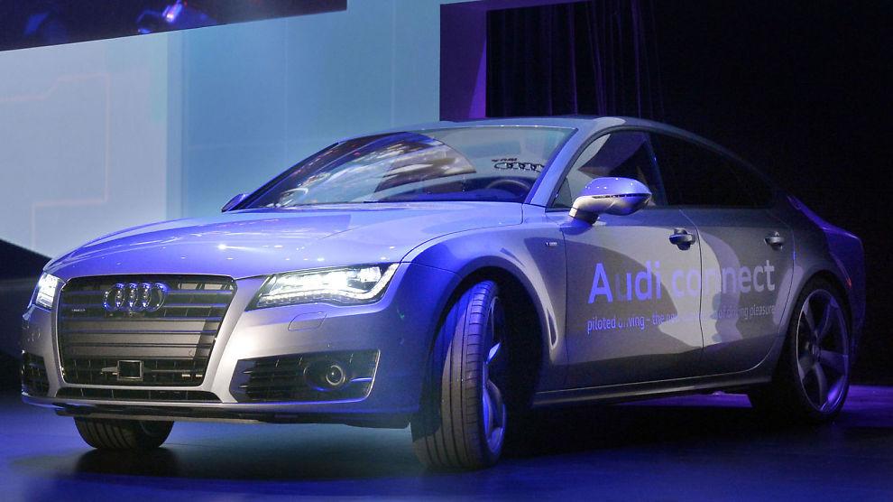 <p><b>FØRST I CALIFORNIA:</b> Audi var først ute til å skaffe seg lisens fra staten California til å teste ut selvkjørende biler i trafikken.<br/></p>