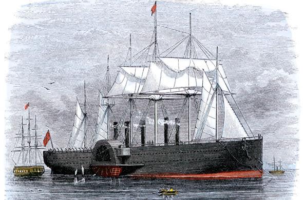 <p><b>ENDRET VERDEN:</b> Den amerikanske prestesønnen Cyrus West Field drømte å forbinde Europa og USA med telegrafen, og brukte finansmarkedene i London og New York til å finansiere leggingen av kabel over Atlanterhavet. Han mislyktes mange ganger, men de første ordene tikket endelig over havet 16. august 1858. Bildet viser SS Great Eastern, som åtte år senere la den første kabelen som ikke sviktet ettter kort tids bruk.<br/></p>