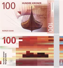<p><b>Slik blir 100-lappen:</b> Norges bank skal jobbe videre med disse to motivene som utgangspunkt. I dag er det operasangeren Kirsten Flagstad som pryder forsiden, og bakgrunnen er salen i Den Norske Opera.</p>