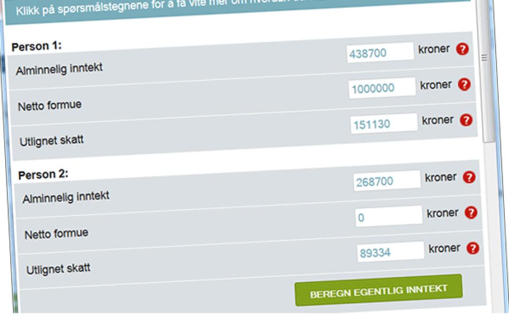Regn ut: Med Dine Pengers kalkulator kan du beregne en omtrentlig brutto lønnsinntekt basert på tallene i skattelistene.