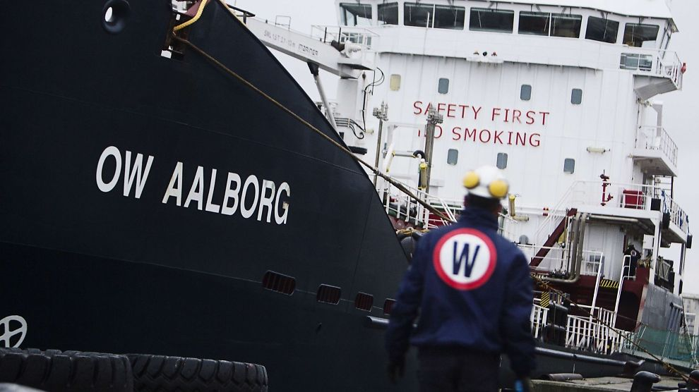<p><b>OLJEPROBLEMER</b>: én dårlig oljehandel kan ha ført shippinggiganten OW Bunker i kne. Bildet er av et av selskapets skip i Danmark.</p>