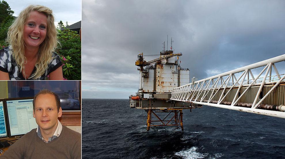 <p><b>RAMMET AV OLJEKUTT:</b> Monica Valen og Eirik Avset Fredriksen hadde begge jobber i oljebransjen. Eirik sitter på oppsigelsestid og søker nå jobb, Monica fant jobb i kommunen.</p>