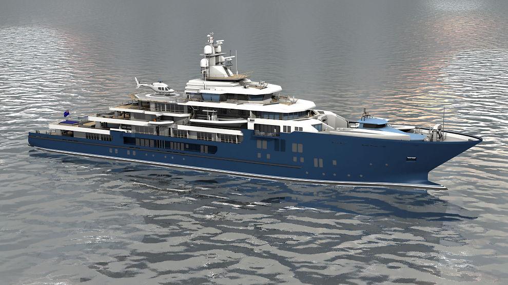 <p><b>LUKSUSKIP:</b> Kleven verft skal bygge dette luksusyachten for den newzealandske milliardæren Graeme Hart. Båten er det andre yachtfartøyet han bestiller fra sunnmøringene.</p>