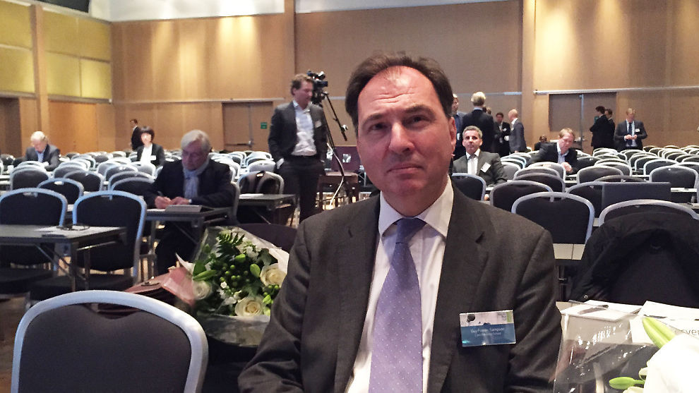 <p><b>BEKYMRET:</b> Investeringssjef, forfatter og foreleser Guy Fraser-Sampson ser alvorlige faretegn i den globale økonomien.</p>