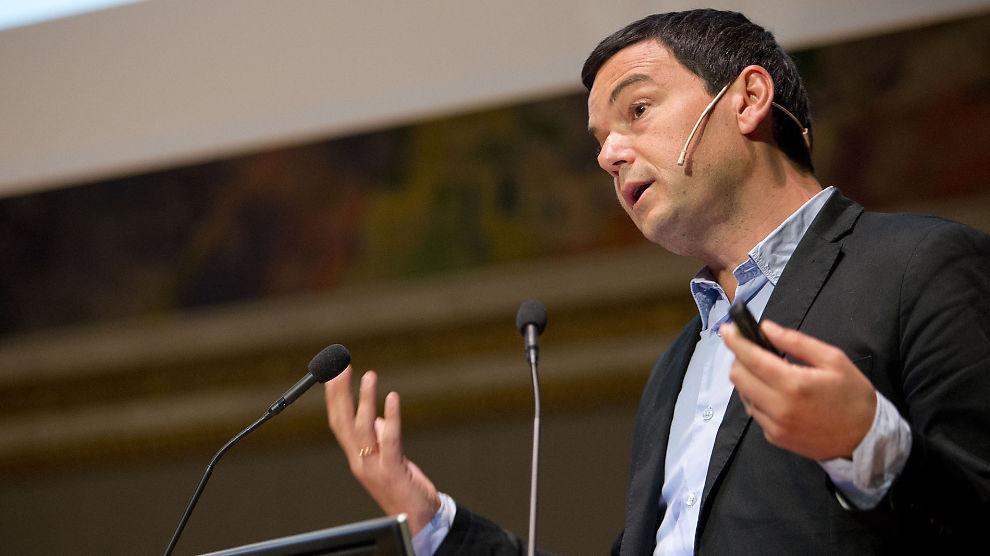 <p><b>NORGESBESØK:</b> Den franske samfunnsøkonomen Thomas Piketty holdt foredrag i Universitetets Aula i Oslo fredag formiddag.<br/></p>