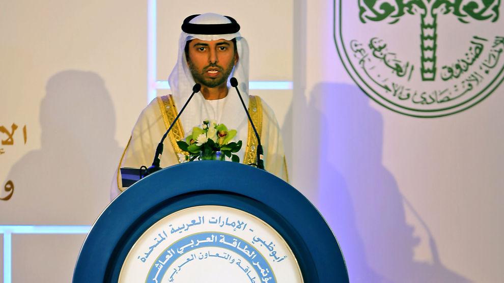 <p><b>VIL IKKE KUTTE:</b> Energiminister Suhail al-Mazrouei i De forente arabiske emirater sier han ikke vil kutte oljeproduksjonen.</p>