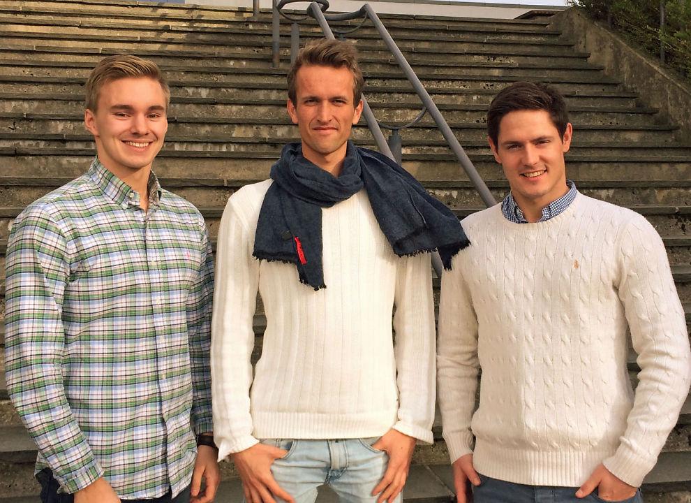 <p>VANT I FJOR: NHH-studentene Mats Vormeland Langgård (t.v.), Fredrik Døhl Mostad og Kristian Kaldhol Moldvær (t.h.) fra vinnerlaget «Garasjen».<br/></p>