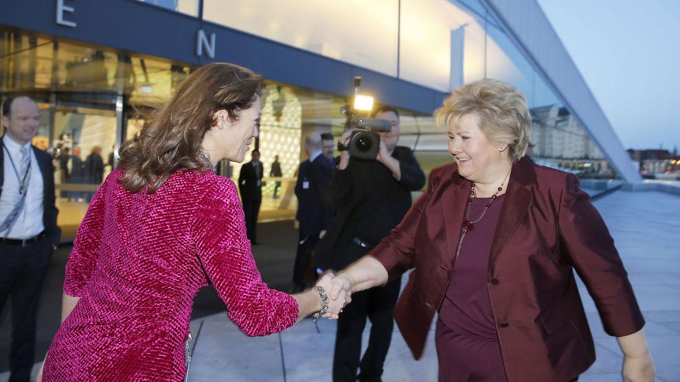 <p><b>STATSMINISTERBESØK:</b> NHO avholdt sin årskonferanse torsdag, statminister Erna Solberg var blant de som hadde funnet veien.</p><p><br/></p><p><br/></p>