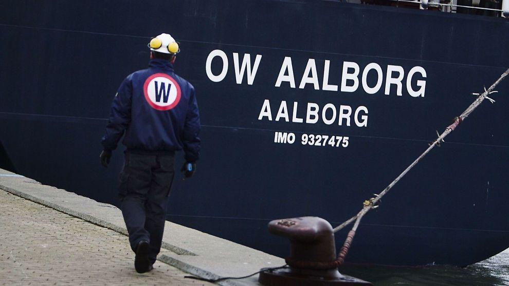 <p><b>KRAV I NORGE:</b> Etter kollapsen i det danske selskapet OW Bunker har nå datterselskapet Bergen Bunker mottatt krav i milliardklassen. Her er skipet OW Aalborg avbildet i havnen i København.<br/></p>