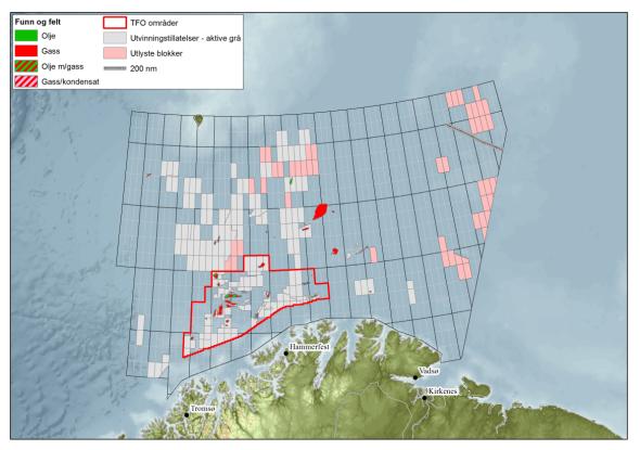 <p>Kartet viser Barentshavet.</p>