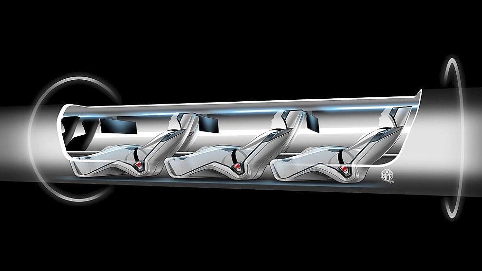 <p><b>HYPERLOOP:</b> En skisse av Hyperloopen fra Musk sitt eget konsept.</p>