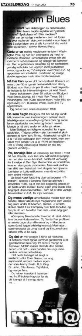 <p><b>HVEM HAR ANSVARET?</b> VG omtalte også krisen da den var et faktum, her ved den skarpe pennen til Anders Giæver.<br/></p>
