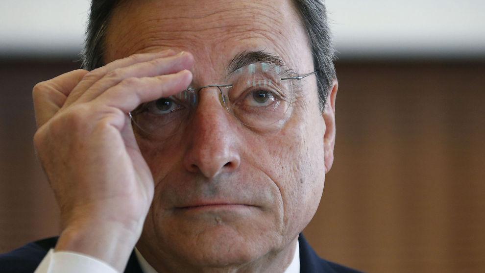 <p><b>DRAGHI`S HODEPINE:</b> Den europeiske sentralbanksjefen Mario Draghi er retningsførende for pengepolitikken i eurosonen, som fremdeles er skadelidende av finanskrisen.<br/></p>