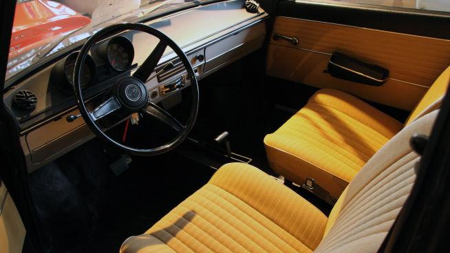 <p><b>TRINNLØS</b>: Interiøret i DAF 55. Denne er fra 1972 og har ikke gått mer enn 29.000 kilometer.<br/></p>