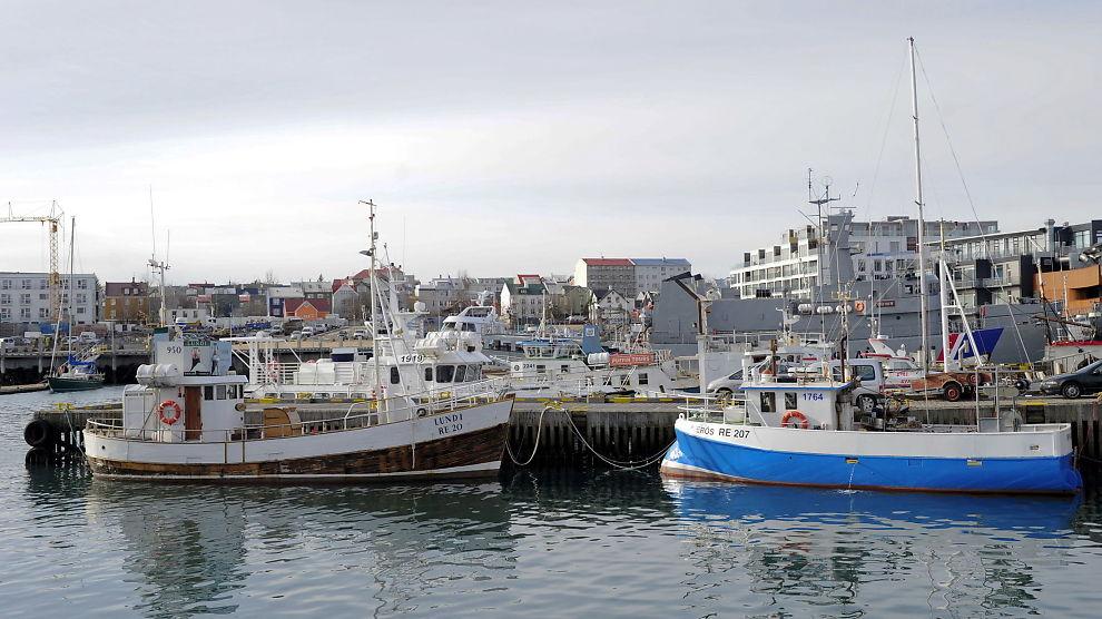 <b>RADIKAL REFORM:</b> Den Islandske regjeringen sier de vil vurdere ny pengepolitisk reform  som innebærer at sentralbanken vil få makten alene over pengeskaping. Bildet viser fiskebåter til kai i Reykjavík 24. mars.