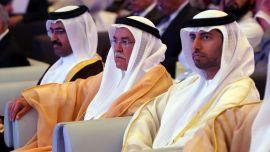 <p><b>MEKTIGE:</b> Qatars oljeminister Mohammed bin Saleh Al-Sada (til venstre), Saudi-Arabias oljeminister Ali al-Naimi og De Forente Arabaiske Emiraters energiminister Suhail bin Mohamed al-Mazroui.<br/></p>