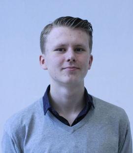 Mathias Meyer (16), elev ved teknologilinjen ved Kuben videregående skole i Oslo.