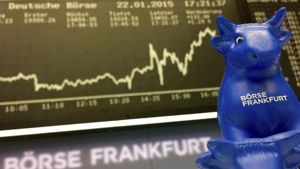 <p><b>KRAFTIG OPPGANG:</b> Rentene på europeisk statsgjeld har steget markert de siste ukene. Bildet er tatt på børsen i Frankfurt, Tyskland.<br/></p>