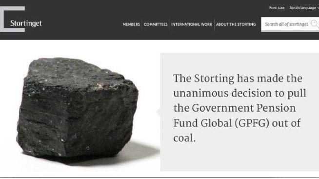 <p><b>UT AV KULL:</b> Fredag vedtar Stortinget at oljefondet må ut av selskaper som har mer enn 30 prosent av virksomheten eller investeringene i kull. Denne faksimilen viser hvordan enigheten i finanskomiteen ble presentert på vårt parlaments egne hjememsider.<br/></p>