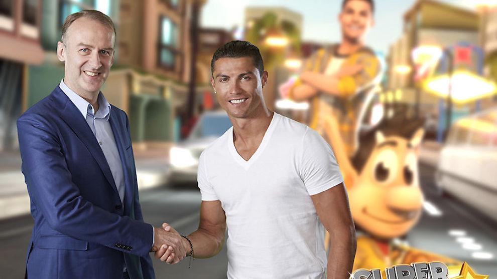 <p><b>TEAMWORK:</b> Real Madrid-stjernen Ronaldo er hovedkarakter i det siste spillet til Hugo Games.<br/></p>