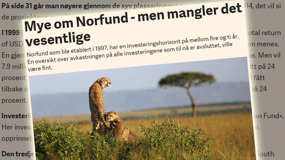 <p><b>MANGLER?</b> Arne Jon Isachsen etterlyste en oversikt over avkastningen på Norfunds investeringer.<br/></p>