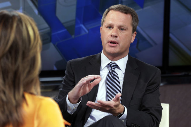 <p><b>TREFFENDE ETTERNAVN:</b> Doug McMillon er her i TV-studio i morgenprogrammet «Mornings with Maria Bartiromo» på kanalen Fox Business Network i juni 2015.<br/></p>