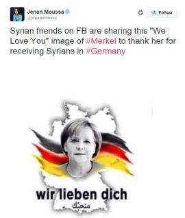 <p><b>HYLLES PÅ TWITTER:</b> Forbundskansler Angela Merkel.</p>