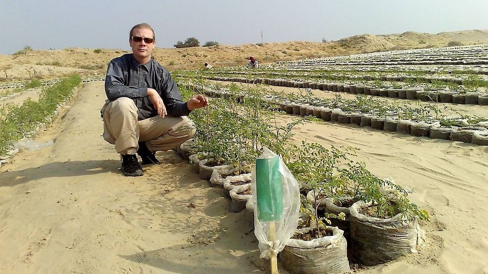 <p><b>TEST</b>: Ole Morten Olsesen under en test i ørkenen i Egypt.</p>