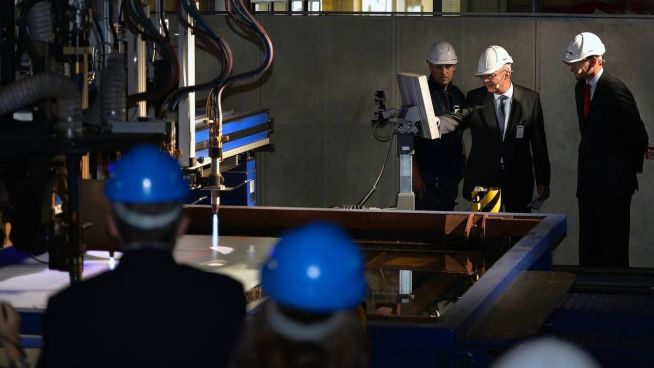 Steel cut-seremonien som markerer at A26 har gått over fra design- til produksjonsfase skjedde på verftet i Karlskrona 4. september.