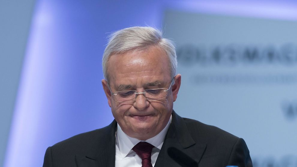 <p><b>PRESSET SJEF:</b> Her er Martin Winterkorn avbildet under selskapets årlige pressekonferanse i fjor. Foto: AFP</p>