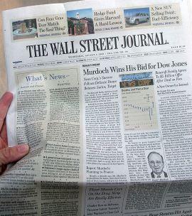 <p><b>PROFILERT KUNDE:</b> Wall Street Journal er på Cxenes' kundeliste. Her fra papirutgave.<br/></p>