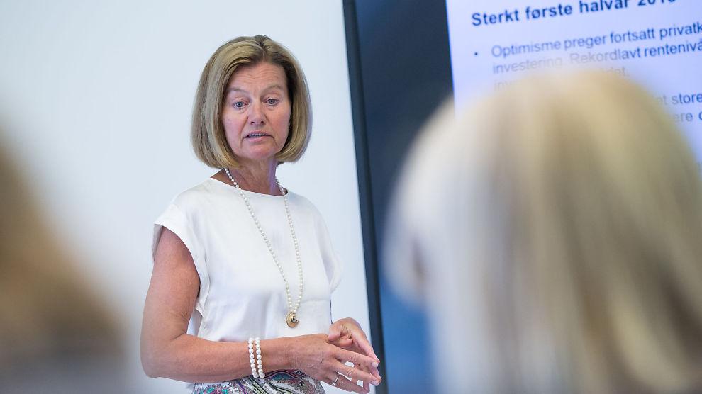 <p>FÅR JUMBOPLASS: Administrerende direktør for Nordea Bank Norge, Gunn Wærsted, kunne rapportere om et «sterkt første halvår» i 2015. Tilfredsheten blant kundene er ikke like sterk.</p>