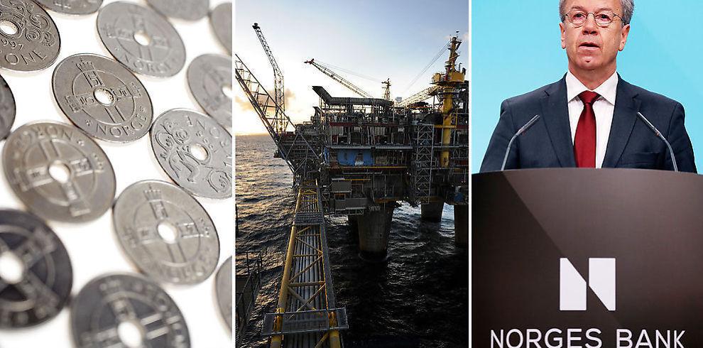 <p><b>KRONEBANK:</b> En kraftig oljebrems og sentralbanksjef Øystein Olsens mange rentekutt har bidratt til å sende kronen kraftig svakere. Ekspertene tror på en enda svakere krone de neste månedene.<br/></p>