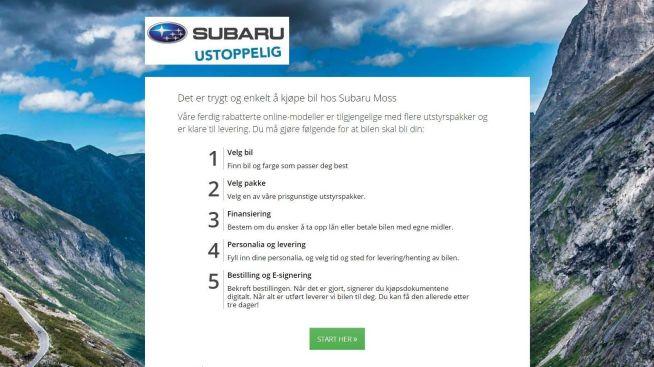 <p><b>STARTPUNKT</b>: Her kan man kjøpe seg en ny bil ved hjelp av noen få klikk.<br/></p>